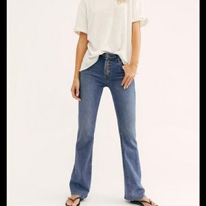 Free People Palo Alto High Rise Boot Cut Jeans